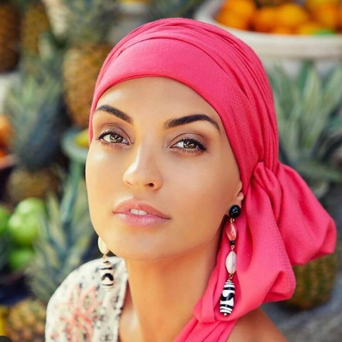 turban chimiotherapie rose fushia