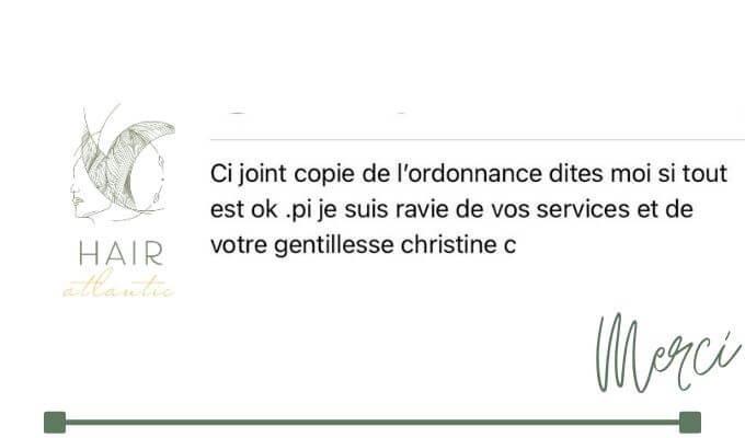 Feedback - Hair atlantic - Christine C